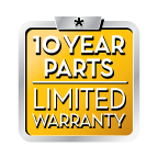 10 Year Parts Limited Warranty